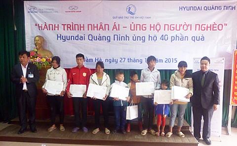 Quảng Ninh: Trao tặng 80 suất học bổng tới các em học sinh có hoàn cảnh khó khăn tại huyện Đầm Hà và thị xã Đông Triều