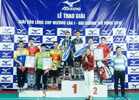 Quảng Ninh giành Huy chương bạc tại giải Cầu lông Tranh cúp Mizuno - Hải Dương lần thứ nhất năm 2015