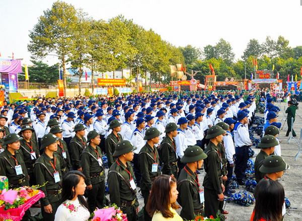 TP Hồ Chí Minh: 4.100 thanh niên đồng loạt lên đường nhập ngũ