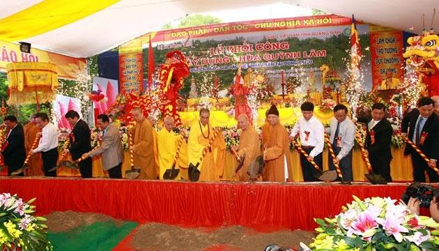Quảng Ninh: Khởi công trùng tu, tôn tạo chùa Quỳnh Lâm