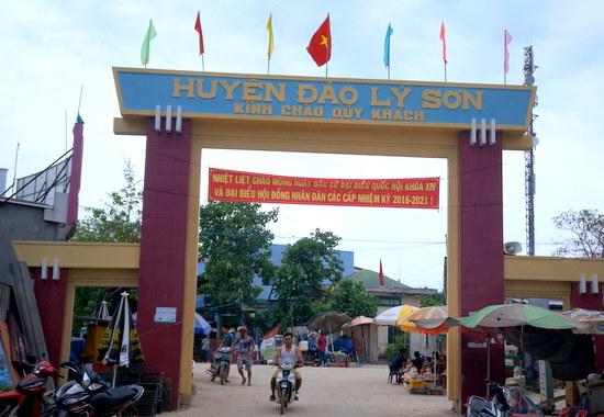 Huyện đảo Lý Sơn rộn ràng chào đón ngày bầu cử