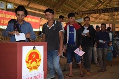 Kon Tum: 3 huyện bầu cử sớm đã hoàn thành tốt công tác bầu cử