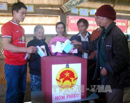 Bầu cử sớm ở vùng biên giới tỉnh Kon Tum
