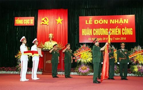 Tổng cục II đón nhận Huân chương Chiến công