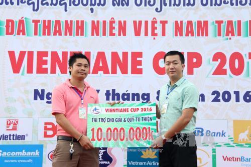 Tuổi trẻ Việt Nam tại Lào gây quỹ từ thiện, phát huy truyền thống tương thân tương ái
