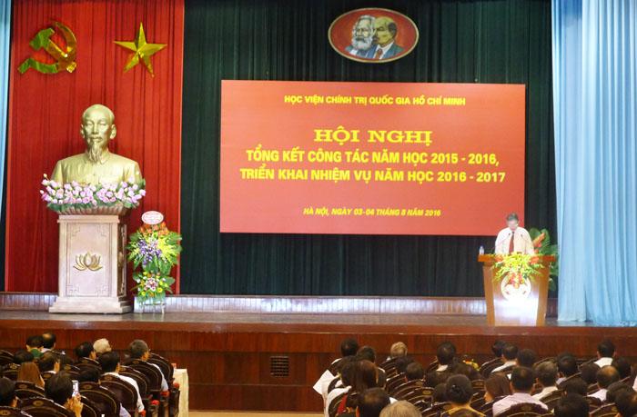 Học viện Chính trị quốc gia Hồ Chí Minh: Phát động phong trào thi đua yêu nước năm học 2016 - 2017