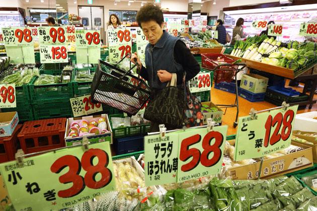 Nhật Bản: Giá tiêu dùng tiếp tục sụt giảm