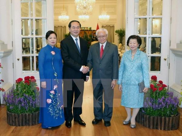 Chủ tịch nước Trần Đại Quang hội đàm, hội kiến với các nhà lãnh đạo Singapore