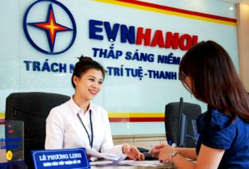 Điện lực Hà Nội cung cấp tiện ích thanh toán tiền điện qua ngân hàng