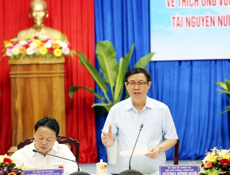 Phó Thủ tướng Vương Đình Huệ chủ trì Hội nghị về thích ứng biến đổi khí hậu