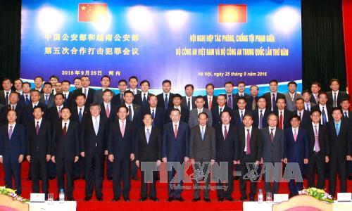 Tăng cường hợp tác giữa Bộ Công an Việt Nam và Bộ Công an Trung Quốc