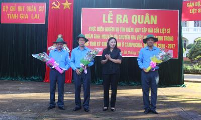 Gia Lai tổ chức ra quân tìm kiếm, quy tập hài cốt liệt sĩ hy sinh ở Campuchia