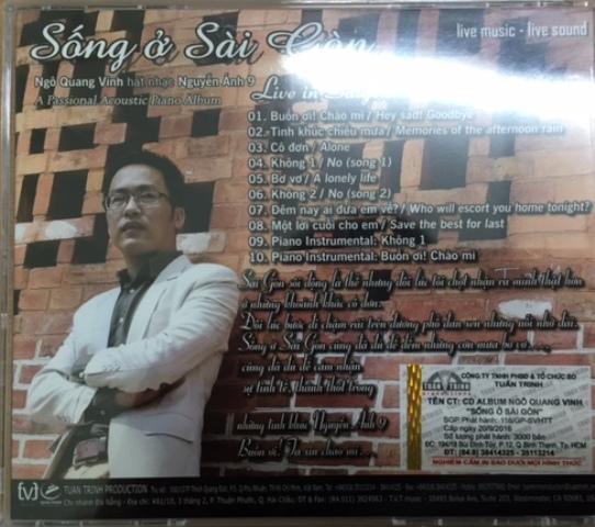 """Ngô Quang Vinh và album """"Sống ở Sài Gòn"""""""