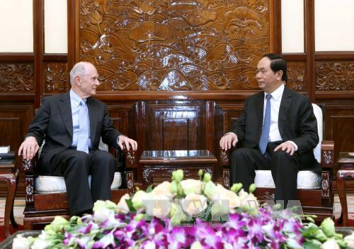 Chủ tịch nước Trần Đại Quang tiếp Giáo sư Đại học Brown (Hoa Kỳ)