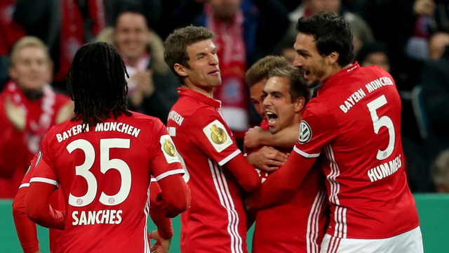 Bayern Munich thắng dễ tại Cúp Quốc gia Đức