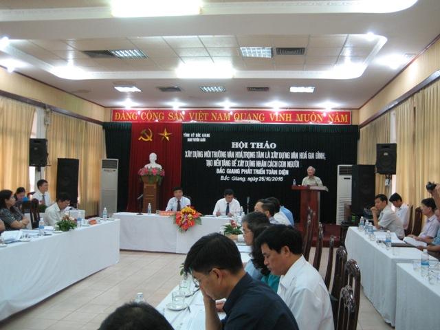 Bắc Giang: Tổ chức Hội thảo về môi trường văn hóa, văn hóa gia đình