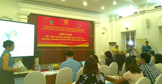 Kết nối doanh nghiệp sản xuất - phân phối hàng Việt Nam