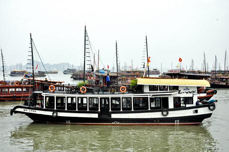 """Quảng Ninh: Chấn chỉnh tình trạng """"đeo bám"""" tàu du lịch trên Vịnh Hạ Long"""