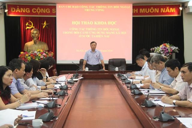 Công tác thông tin đối ngoại trong bối cảnh ứng dụng mạng xã hội ở Việt Nam hiện nay