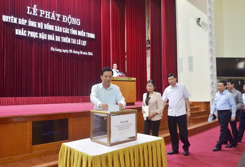 Quảng Ninh ủng hộ đồng bào miền Trung 5,1 tỷ đồng
