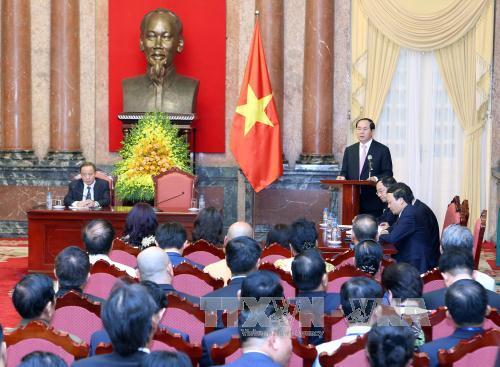 Chủ tịch nước Trần Đại Quang gặp mặt đại biểu doanh nghiệp nhỏ và vừa Việt Nam