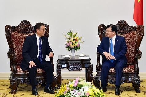 Phó Thủ tướng Trịnh Đình Dũng tiếp Chủ tịch Tổ chức Kết nối phát triển kinh tế Devnet - Nhật Bản