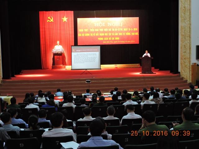 Điện Biên: Quán triệt, triển khai thực hiện Chỉ thị 05-CT/TW của Bộ Chính trị