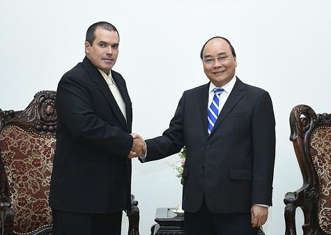 Thủ tướng Nguyễn Xuân Phúc tiếp Chủ tịch Thông tấn xã Prensa Latina (Cuba)