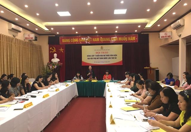 Góp ý kiến vào dự thảo văn kiện Đại hội Phụ nữ toàn quốc lần thứ XII
