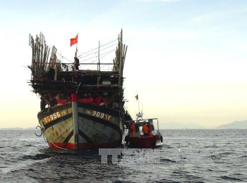 Ứng cứu kịp thời tàu cá cùng 12 ngư dân trôi dạt trên vùng biển Trường Sa
