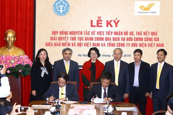 Bưu điện Việt Nam chính thức tiếp nhận hồ sơ, trả kết quả giải quyết thủ tục hành chính của Bảo hiểm xã hội Việt Nam