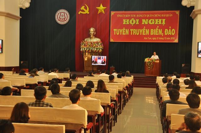 Kon Tum: Hội nghị trực tuyến toàn tỉnh về tuyên truyền biển, đảo