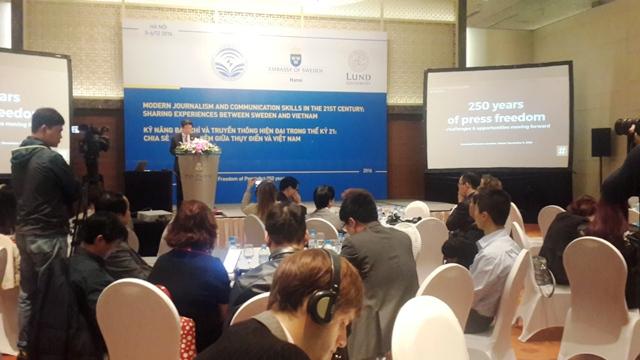 Chia sẻ kinh nghiệm báo chí, truyền thông hiện đại giữa Việt Nam và Thụy Điển