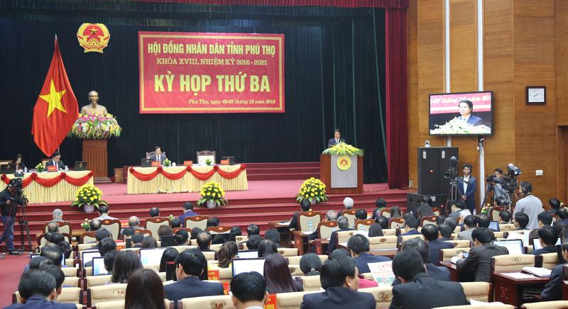 Phó Chủ tịch Quốc hội Uông Chu Lưu dự kỳ họp thứ ba HĐND tỉnh Phú Thọ khóa XVIII