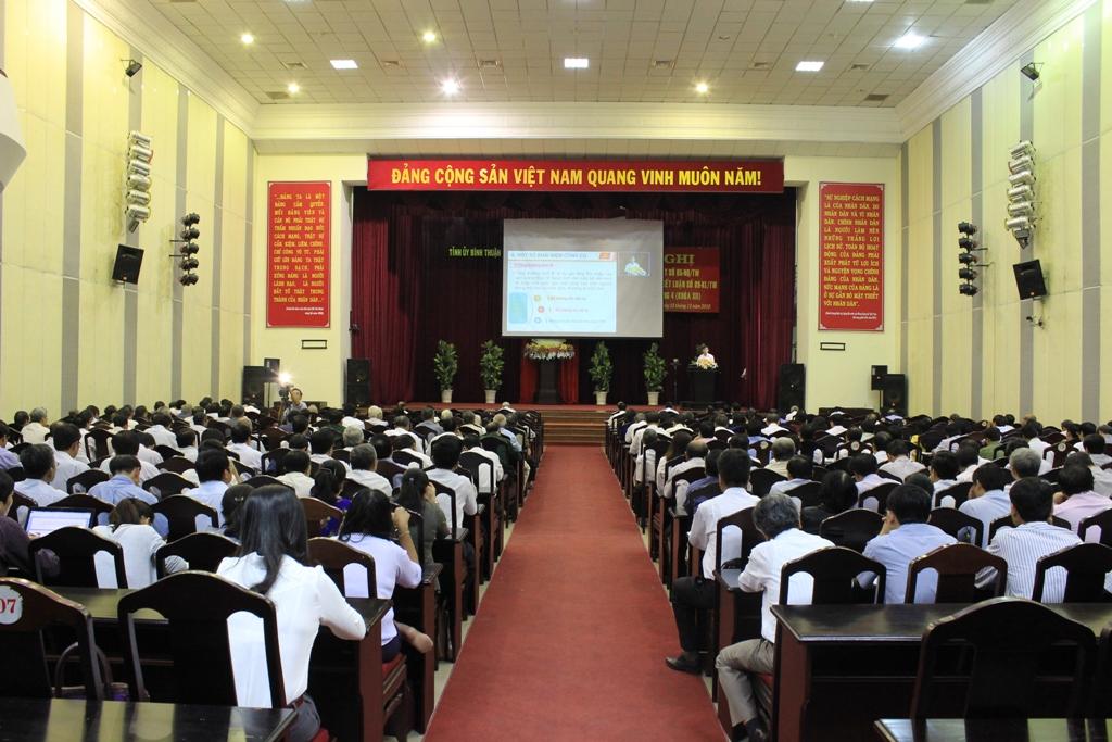 Bình Thuận tổ chức quán triệt Nghị quyết Trung ương 4 (khóa XII)