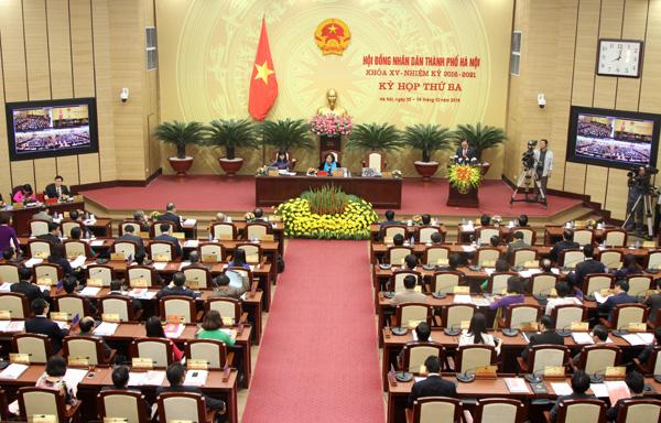 Khai mạc kỳ họp thứ 3 HĐND Thành phố Hà Nội khóa XV