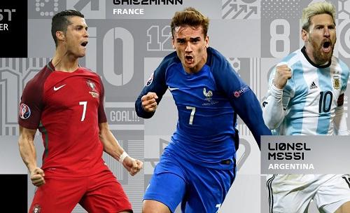 FIFA công bố danh sách đề cử Cầu thủ hay nhất năm 2016