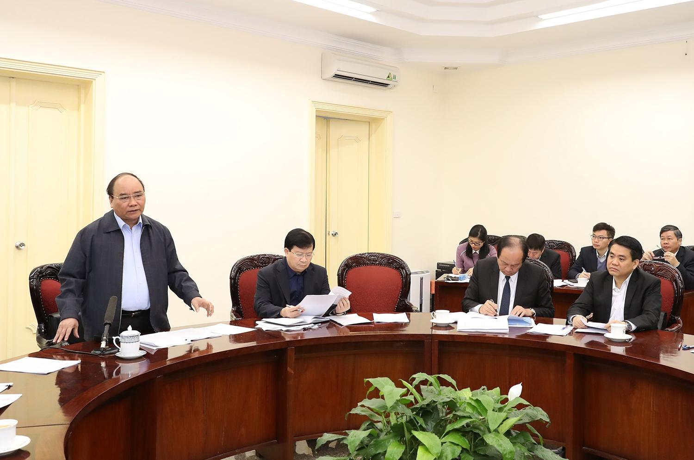 Thủ tướng Nguyễn Xuân Phúc chỉ đạo các giải pháp chống ùn tắc giao thông trên địa bàn TP. Hà Nội