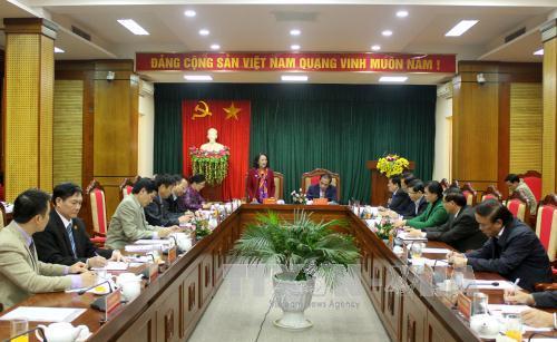 Trưởng Ban Dân vận Trung ương Trương Thị Mai thăm và làm việc tại Tuyên Quang