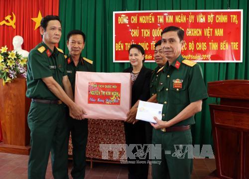 Chủ tịch Quốc hội Nguyễn Thị Kim Ngân thăm, chúc Tết người nghèo tại Bến Tre
