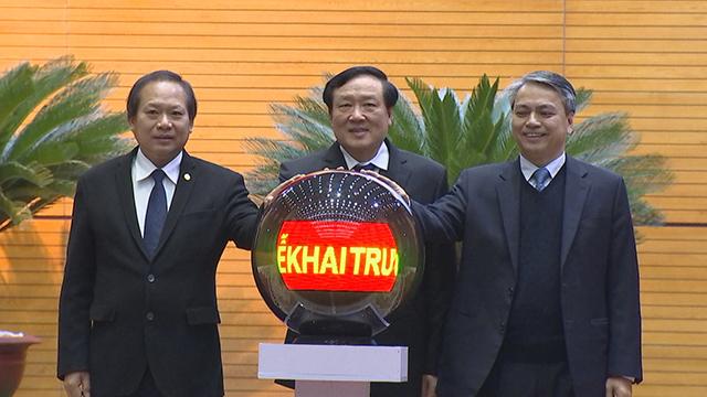 Khai trương hệ thống truyền hình hội nghị trực tuyến đến Tòa án nhân dân cấp huyện