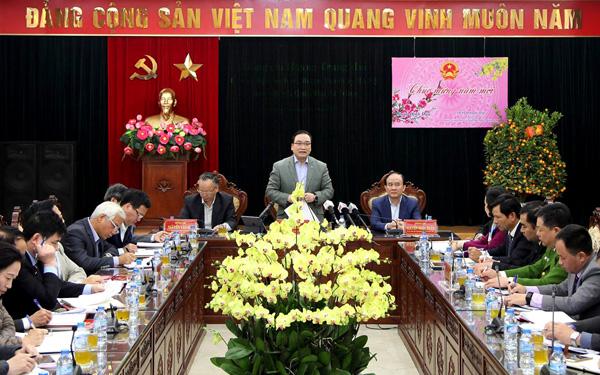 Bí thư Thành ủy Hà Nội Hoàng Trung Hải làm việc với Quận ủy Hai Bà Trưng