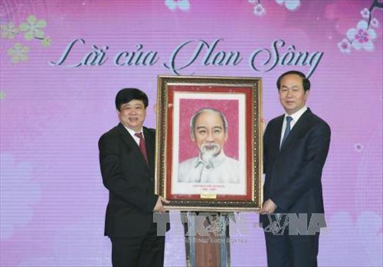 """Chủ tịch nước Trần Đại Quang: """"Lời thơ chúc Tết của Bác như là lời non nước, là tiếng hịch non sông"""""""