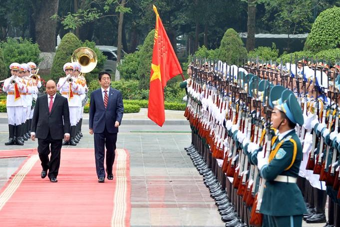 Thủ tướng Nguyễn Xuân Phúc hội đàm với Thủ tướng Nhật Bản Sin-dô A-bê