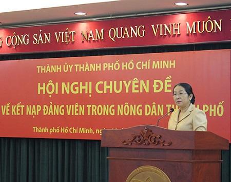 Thành ủy TP Hồ Chí Minh bàn giải pháp đẩy mạnh phát triển đảng viên trong nông dân