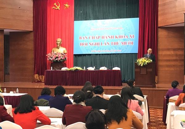 Hội nghị lần thứ 10 (khóa XI) Ban Chấp hành Trung ương Hội LHPN Việt Nam