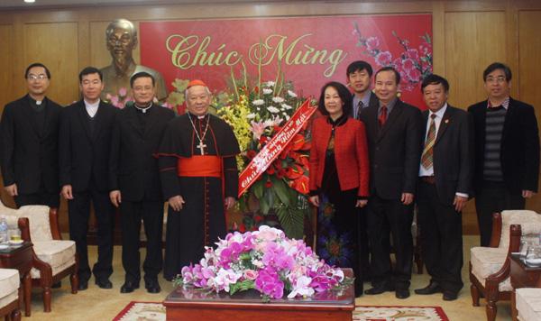 Tổng Giáo phận Hà Nội thăm, chúc Tết Ban Dân vận Trung ương