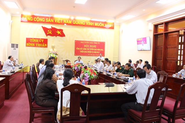 Bình Thuận: Triển khai nhiệm vụ công tác tuyên giáo năm 2017