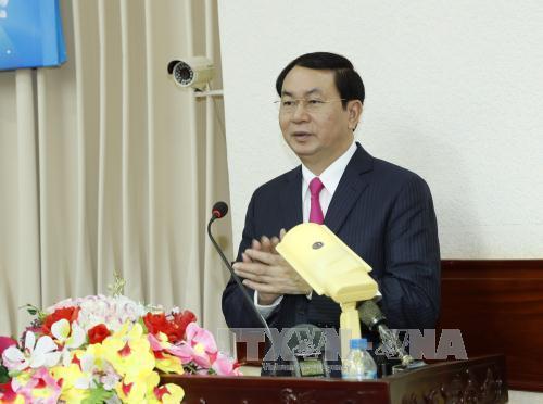 Chủ tịch nước Trần Đại Quang thăm, chúc Tết lực lượng vũ trang Quân khu 9