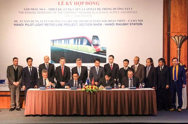 Hà Nội ký gói thầu hơn 7.600 tỷ đồng cho tuyến đường sắt Nhổn - ga Hà Nội